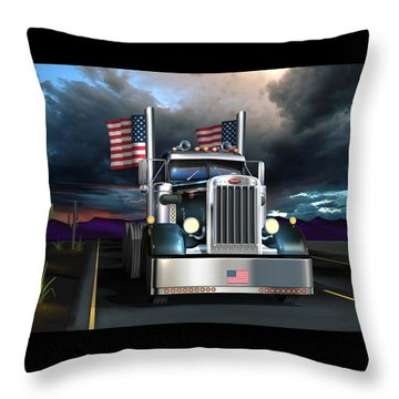 Throw Pillow featuring the digital art Patriotic Pete by Stuart Swartz