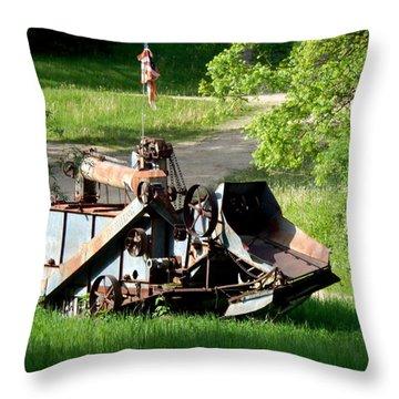 Patriotic Rust Throw Pillow