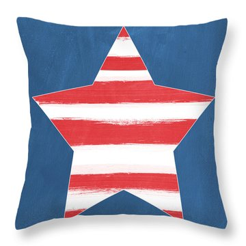 Patriotic Star Throw Pillow