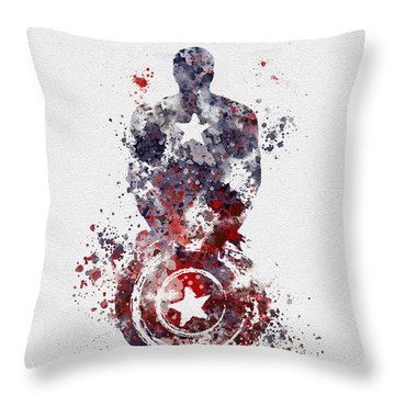 Patriotic Supersoldier Throw Pillow