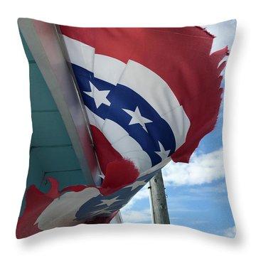 Patriotic Wave Throw Pillow