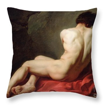 Patrocles Throw Pillow by Jacques Louis David