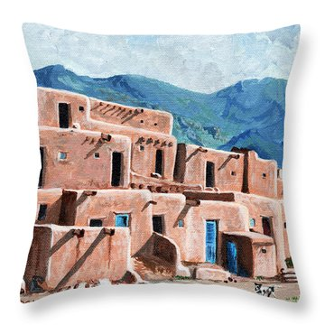 Patrolling The Pueblo Throw Pillow