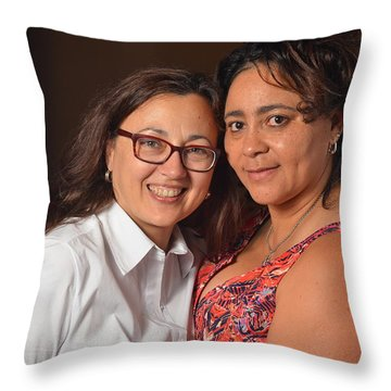 Patsy And Psilky Throw Pillow