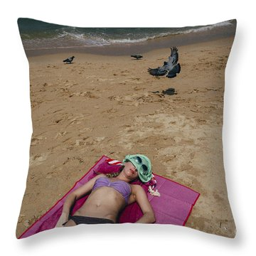 Throw Pillow featuring the photograph Pattaya Beach by Setsiri Silapasuwanchai