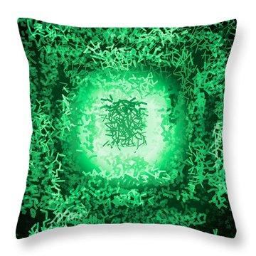 Throw Pillow featuring the digital art Pattern 199 by Marko Sabotin