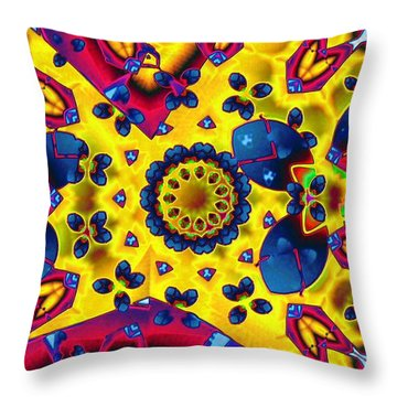Pattern 2 Intersect Throw Pillow by Ron Bissett
