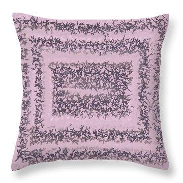 Throw Pillow featuring the digital art Pattern 200 by Marko Sabotin