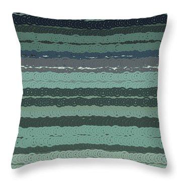 Throw Pillow featuring the digital art Pattern 203 by Marko Sabotin