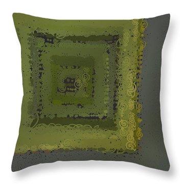 Throw Pillow featuring the digital art Pattern 208 by Marko Sabotin