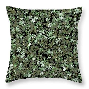 Throw Pillow featuring the digital art Pattern 209 by Marko Sabotin