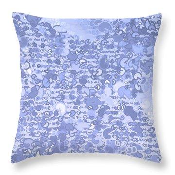 Throw Pillow featuring the digital art Pattern 210 by Marko Sabotin