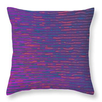 Throw Pillow featuring the digital art Pattern 214 by Marko Sabotin