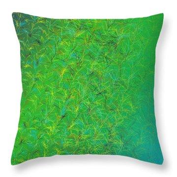 Throw Pillow featuring the digital art Pattern 215 by Marko Sabotin