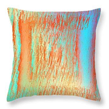Throw Pillow featuring the digital art Pattern 216 by Marko Sabotin