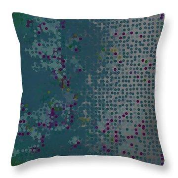 Throw Pillow featuring the digital art Pattern 227 by Marko Sabotin