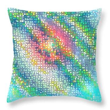 Throw Pillow featuring the digital art Pattern 229 by Marko Sabotin