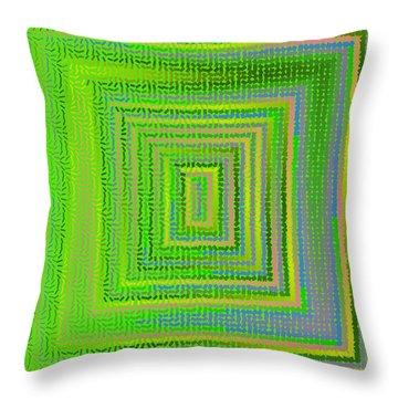 Throw Pillow featuring the digital art Pattern 231 by Marko Sabotin