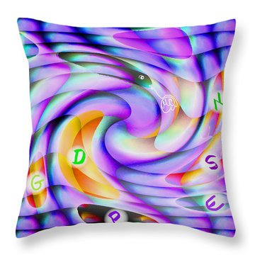 Pattern 240_ Lessons Throw Pillow