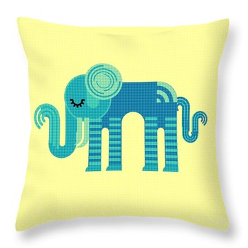 Pattern Elephant Throw Pillow