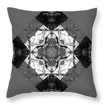 Pattern In Black White Throw Pillow