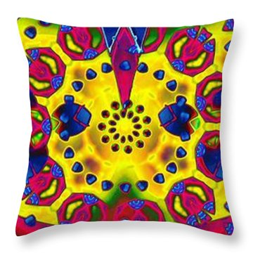 Pattern Intersect Throw Pillow by Ron Bissett