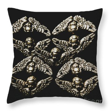Pattern Of Antique Cupid Angels  Throw Pillow
