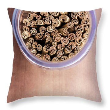 Throw Pillow featuring the photograph pattern of Cinnamon  by Jingjits Photography
