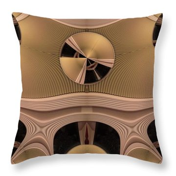 Pattern Throw Pillow by Ron Bissett