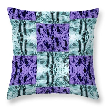 Ultra Violet  And Water  Throw Pillow