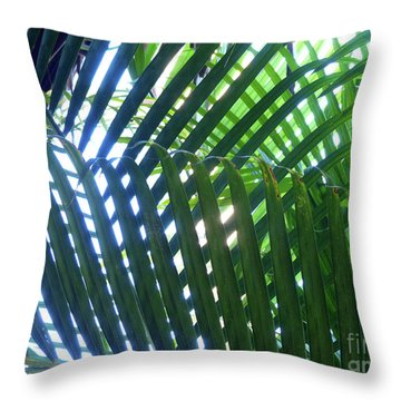 Patterned Palms Throw Pillow