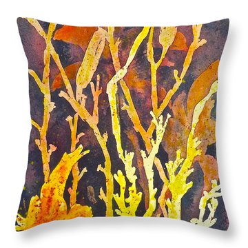 Throw Pillow featuring the painting Patterns In Nature by Carolyn Rosenberger