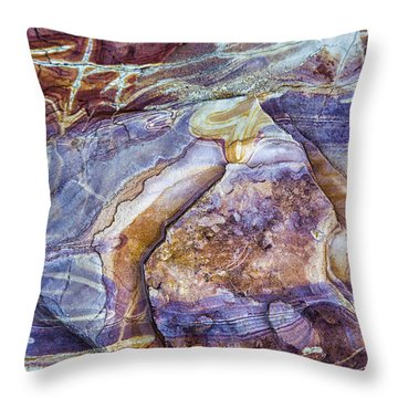 Patterns In Rock 3 Throw Pillow