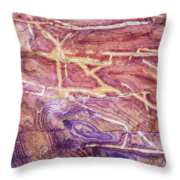 Patterns In Rock 4 Throw Pillow