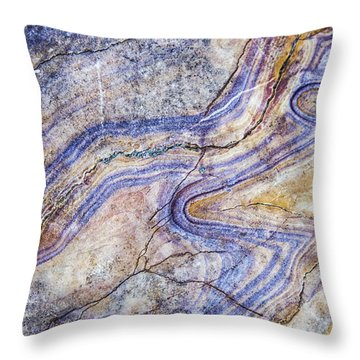 Patterns In Rock 5 Throw Pillow