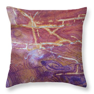 Patterns In Rock 6 Throw Pillow