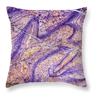 Patterns In Rock 7 Throw Pillow