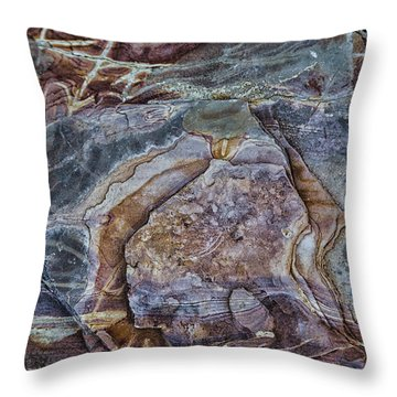 Patterns In Rock Throw Pillow