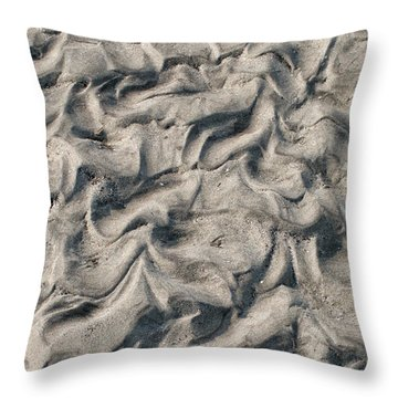 Throw Pillow featuring the photograph Patterns In Sand 4 by William Selander