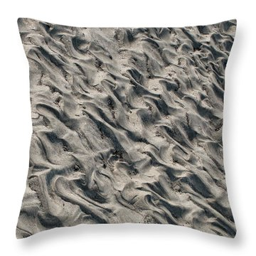 Throw Pillow featuring the photograph Patterns In Sand 5 by William Selander