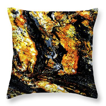 Throw Pillow featuring the photograph Patterns In Stone - 185 by Paul W Faust - Impressions of Light