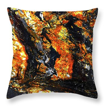Throw Pillow featuring the photograph Patterns In Stone - 186 by Paul W Faust - Impressions of Light