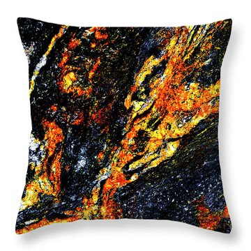 Throw Pillow featuring the photograph Patterns In Stone - 187 by Paul W Faust - Impressions of Light