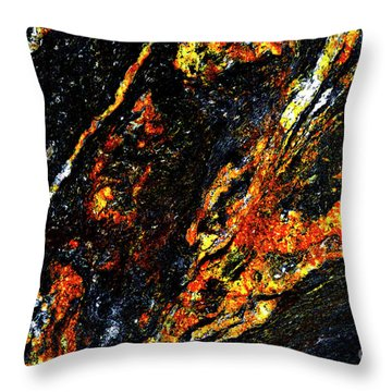 Throw Pillow featuring the photograph Patterns In Stone - 188 by Paul W Faust - Impressions of Light