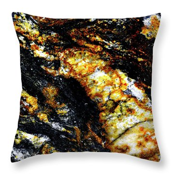 Throw Pillow featuring the photograph Patterns In Stone - 190 by Paul W Faust - Impressions of Light