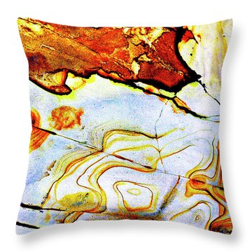 Throw Pillow featuring the photograph Patterns In Stone - 201 by Paul W Faust - Impressions of Light