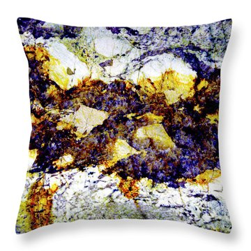 Throw Pillow featuring the photograph Patterns In Stone - 212 by Paul W Faust - Impressions of Light