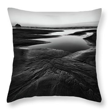 Throw Pillow featuring the photograph Patterns In The Sand by Jon Glaser