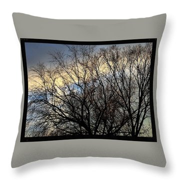 Patterns In The Sky Throw Pillow by Frank J Casella