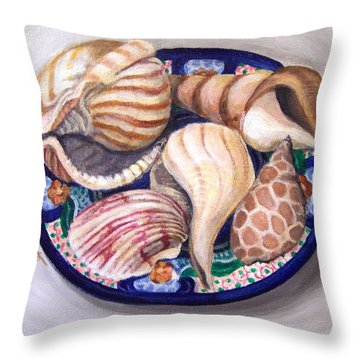 Throw Pillow featuring the painting Patterns by Laura Aceto